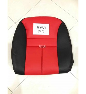 2 TONE PVC SEAT COVER - MYVI OLD (RED)