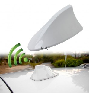 STYLISH ANTENNA - SHARK FIN WITH FM RECEIVER (BLACK, SILVER, WHITE)