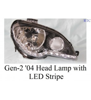 HEAD LAMP - GEN-2 '04 SET BLK WITH LED