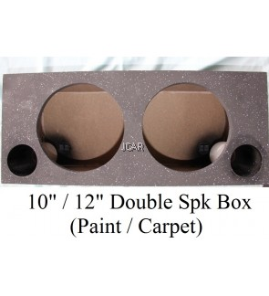 "DOUBLE SPEAKER BOX WITH CARPET - 10"" / 12"""