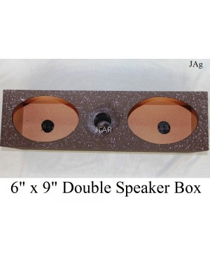 "DOUBLE SPEAKER BOX - 6"" X 9"""