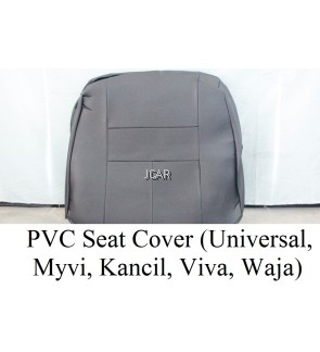 PVC SEAT COVER - UNIVERSAL (BLACK, GREY)