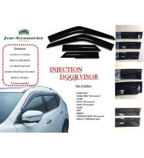 Injection Door Visor (SET, 3 Inches)