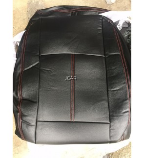 PVC SEAT COVER - SAGA / ISWARA (BLACK with RED LINING)