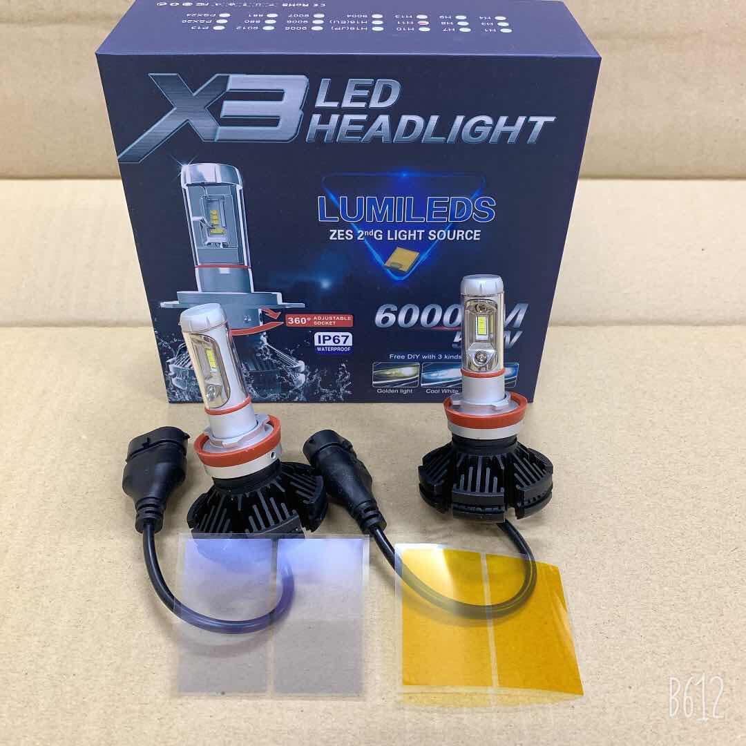 X3 LED BULB (H1 / H4 / H7 / H11 / 9006)