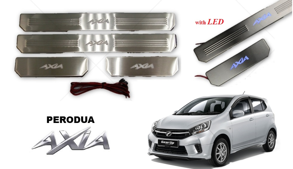 SIDE STEEL PLATE WITH LED - AXIA