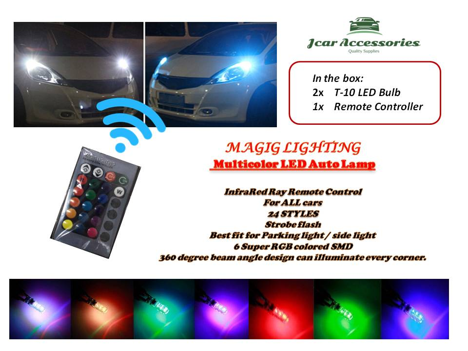 0c296880d90 Multicolor LED Car Auto Lamp of Infrared Ray Remote Control